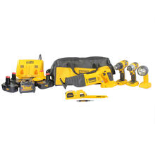 Dewalt DCK425C 18-Volt 4-Piece Cordless Power Tool Combo Kit With Level & Bag