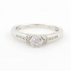 NEW Classic Ladies 10K White Gold Diamond 0.50CTW Engagement Ring Jewelry