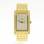 Caravelle by Bulova Women's 44L107 Rectangle Yellow Gold Toned Bracelet Watch