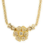"Retro Vintage Estate 14K Yellow Gold Diamond 1.35CTW 18"" Necklace Jewelry"