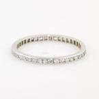 Modern Platinum Diamond 0.50CTW Eternity Anniversary Wedding Ring Band
