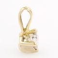 Classic 14K Yellow Gold Diamond Princess Cut Solitaire 0.20CTW 10MM Pendant