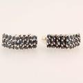 Gorgeous Estate Ladies 925 Silver Blue Spinel Push Back Earrings
