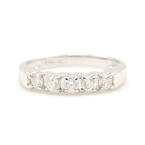 NEW Classic 14k White Gold Diamond 0.50CTW Anniversary Ring Band