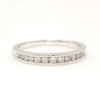 NEW Classic 14k White Gold Diamond 0.35CTW Anniversary Ring Band