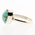 Estate Sterling Silver 925 Raw Turquoise Size 6 Ring