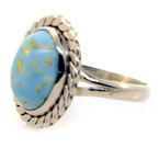 Estate Sterling Silver 925 Oval Turquoise Size 6 Ring