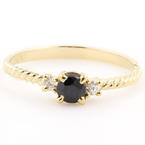 Retro Estate 14K Yellow Gold Onyx Ring Jewelry