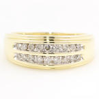 Vintage Estate 10K Yellow Gold Diamond Channel Set 1/2CTW Ring Band