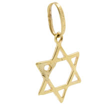 Vintage Estate 10K Yellow Gold  Star of David 25MM Pendant Jewelry