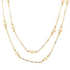 "Classic Womens Vintage Estate 14K Yellow Gold Pearl 16"" Necklace"