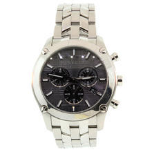 Handsome Burberry BU1850 Stainless Steel Dark Gray Chronograph Dial Watch