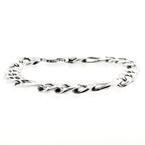 Charming Sterling Silver 925 Men's Figaro Bracelet Jewelry