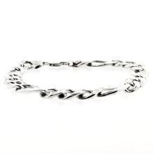 Sterling Silver 925 Men's Figaro Bracelet Jewelry