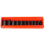 "Snap-On 1/2"" 11 Pcs. Impact Shallow Socket Set 6-Point IMFS120-IMFS320 3/8"" - 1"""