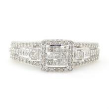 NEW Modern 14K White Gold Diamond 0.80CTW Engagement Ring Jewelry