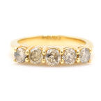 Scintillating Ladies 14K Yellow Gold Diamond 1.00CTW Ring Band Jewelry