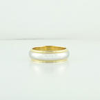 Authentic Tiffany & Co Milgrain 18K Yellow Gold Platinum 6mm Wedding Ring Band