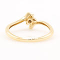 Estate Ladies 10K Yellow Gold Diamond Rosita Cluster Promise Right Hand Ring