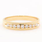 Classic Estate 14K Yellow Gold Natural Diamond 0.24CTW Wedding Ring Band