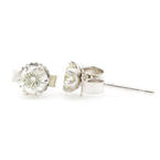 NEW Classic PT900 Diamond 0.30CTW Push Back Stud Earrings