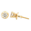 NEW Classic 14K Yellow Gold Diamond 0.50CTW Stud Screw Back Earrings Jewelry