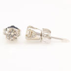 NEW Classic 14K White Gold Diamond Stud 0.66CTW Push Back Earrings