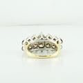 Vintage 14K Yellow Gold Round Show Stopping 2.70 Carat Natural Diamond Ring