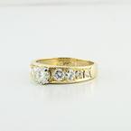 18K Fine Yellow Gold Wedding Engagement Diamond Ring Totaling 1.68 Carats