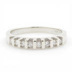 Vintage Classic Estate Ladies 14K White Gold Diamond Ring Band - 0.25CTW
