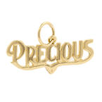 """Estate 14K Yellow Gold High Polished 25MM """"Precious"""" Personalized Pendant"""