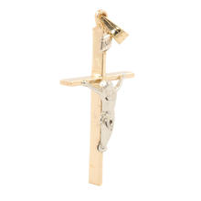 Estate 14K Yellow Gold Religious Cross Crucified Jesus Pendant
