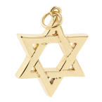 Vintage Estate 14K Yellow Gold  Star of David 30MM Pendant Jewelry