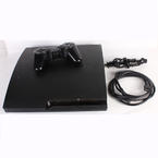 Sony PlayStation 3 PS3 Slim CECH-3001B 320GB Charcoal Black Console