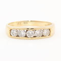 Classic 14K Yellow Gold Natural Chanel Set Diamond 0.50CTW Wedding Ring Band