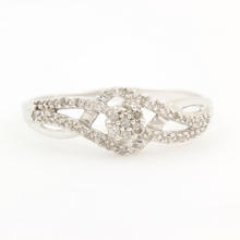 Vintage Estate 10K White Gold Diamond 0.25CTW Bypass Right Hand Ring