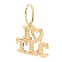 Estate 14K Yellow Gold I Heart TLC 15MM Pendant Charm