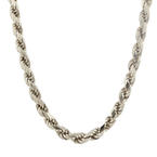 Estate Men's 925 Silver Rope Chain 30 Inches Lobster Claw Clasp Jewelry
