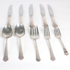 Fine Dinning Heirloom Sterling Silverware Flatware Damask Rose Pat.10PC Set
