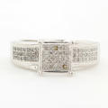 NEW Modern Ladies 10K White Gold Diamond Engagement Ring Jewelry - 0.50CTW