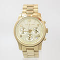 Ladies Michael Kors MK5055 Gold Tone Chronograph Runway Stainless Steel Watch