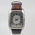 Kenneth Cole Mens Silver Dial Leather Strap KC1806 Quartz Watch
