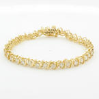 Classic Ladies 14K Yellow Gold Diamond 3.80CTW Tennis Bracelet Jewelry