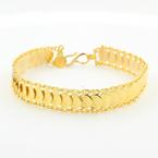 "Vintage Estate 18K Yellow Gold Liberty Coin Replica 7"" Bracelet"