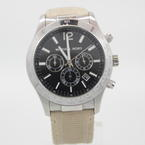 Michael Kors Men's Black Dial Chronograph SS Nylon Strap MK-8187 Quartz Watch