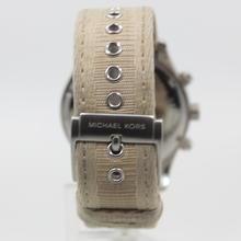 Michael Kors Men's Black Dial Chronograph SS Nylon Strap MK-8187 Quartz Watch