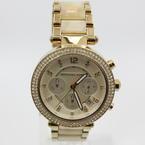Michael Kors Ladies Chronograph Champagne Dial Stainless Steel Quartz Watch