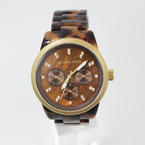 Michael Kors MK5038 Women's Brown Chronograph Ritz Acrylic Tortoiseshell Bracelet Watch