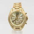 Michael Kors Ladies Bradshaw Mini Gold Tone Chronograph Watch MK5798