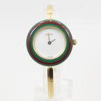 Authentic GUCCI 11/12.2 Interchangeable Bezels Bangle Women's Watch